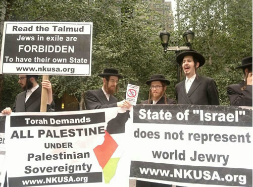 Orthodox Jews reject Zionism