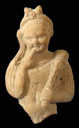 Hellenistic Harpocrates with Egyptian Hairstyle and Upturned Torch