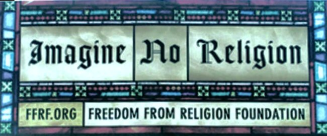 Freedom from Religion Poster: Banned in California